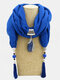 Bohemian Drop Shape Gem Pendant Scarf Necklace Women Tassel Multi-layer Necklace - #04