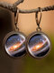 Vintage Glass Gem Women Earrings Universe Galaxy Nebula Pendant Earrings - #10