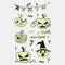 Halloween Luminous Tattoo Children Cartoon Stickers Body Art Waterproof Fake Temporary Tattoo Transfer Paper - 11