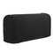 2 Pcs Silky Universal Elastic Armrest Cover Cover Towel Non-slip Knitted Single And Double Thick Sofa Cover - Black