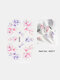 5D Relief Craft Colorful Butterfly Flower Pattern Three-Dimensional Watermark Nail Sticker - #11