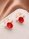 Christmas Crystal Gem Women Ear Stud Stereoscopic Reindeer Earrings - #11