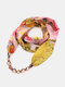 Vintage Chiffon Women Scarf Necklace Beaded Pendant Spring-Summer Sunscreen Scarf - #04
