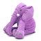 <US Instock>Large Elephant Soft Sleep Pillow Animals Plush Toy For Baby Sleep Cushion - Purple