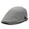Hombres Mujer Retro Sólido Algodón Lino Boina Sombrero Ajustable Casual Wild Forward Sombrero