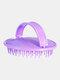 Household Shampoo Brush Anti-Itch Scalp Massage Comb Salon Hair Styling Tools - Purple