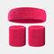 15 colori Soft Set di fascia per lo sport con fascia da polso per asciugamano Set di fascia per la fascia assorbente da sudore per sport sportivo - 8