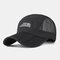 Folding Baseball Cap Outdoor Fishing Net Hat Quick-drying Cap - Black