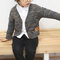 Boy's Cartoon Long Sleeves Casual Knitted Cardigan Sweater For 1-7Y - Navy