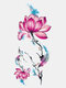 28 Pcs Disposable Tattoos Stickers Colored Plum Blossom Rose Peach Waterproof Temporary Tattoos - 15