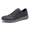 Men Light Weight Soft Lace Up Walking Shoes - Blue
