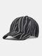 Unisex Denim Irregular Stripe Print Fashion Sun Protection Baseball Caps - Black