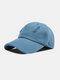 Unisex Polyester Cotton Solid Color Broken Hole Simple Sunshade Baseball Cap - Blue