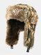 メンズカモ防寒冬用トラッパーハット厚手の冬用ハット耳保護トラッパーハット - #04