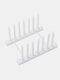 1Pc Multi-function Bowl Plate Dish Drainer Rack Shelf For Kitchen Tools Storage Pot Lid Holder Sink Shelving Organizer Kitchen Tool - White