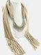 20 Colors Bohemian Women Scarf Necklace Shawl Autumn Winter Tassel Pendant Necklace - #09