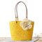 Женское Соломенная цветочница Дизайнерская сумка Пляжный Сумка