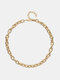 Simple Adjustable Thick Chain Women Necklace - N2321