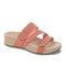 Plus Size Women Rhinestone Opened Toe Hook Loop Platform Casual Slide Sandals - Pink