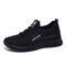 Women Breathable Lace Up Lightweight Casual Sport Shoes - Black