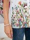 Calico Butterflies Print O-neck Short Sleeve Casual T-shirt - White