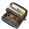 Brenice RFID Cowhide Zipper Long Wallets Large Capacity 11 Card Holder Coin Purse - Black