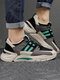 Men Color Blocking Patchwork Breathable Sport Casual Chunky Sneakers - Green
