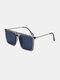 メンズ スクエア フル フレーム ナロー サイド UV 保護 シンプル ファッション サングラス - 青