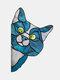 1 PC PVC Cartoon Peeking Cat Dog Cute Home Decoration Self-adhesive Waterproof Window Sticker Wall Sticker - #03