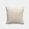Nordic Solid Color Cord breit und schmal gestreift Flanell Kissen Schlafzimmer Sofa Autokissenbezug - Beige