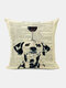 Animal Head Wine Glass Pattern Linen Cushion Cover Home Sofa Art Decor Throw Pillowcase - #05
