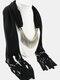 20 Colors Bohemian Women Scarf Necklace Shawl Autumn Winter Tassel Pendant Necklace - #02