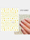3D Nail Art Stickers Rose Cupid Eros Love Lip Adhesive Valentine's Day Stickers - #15