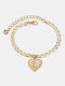 Luxury 26 English Letters Women Anklet Wild Heart Pendant Anklet Jewelry Gift - L