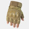 Mountaineering Fitness Sports Tactical Gloves Outdoor Motorcycle Riding Gloves Climbing Wristbands - Brown