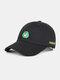 Unisex Cotton Embroidery Animal Pattern Summer Casual Sunshade Fashion Baseball Hat - Black