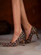 Pointed Toe Knitting Wool Design Party Fashion Heels - Black