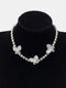 Ins Alloy Diamond Butterfly Simple Color Clavicle Necklace - 1