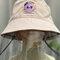 Children's Embroidery Fisherman Hat Transparent Dustproof Hat - Pink