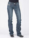 Embroidery Pockets Solid Color Casual Jeans For Women - Navy