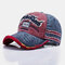 Unisex Solid Color Light Plate Baseball Cap Washable Old Cap Breathable Cotton Sun Hat - Wine Red