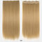 26 цветов длинные прямые Волосы удлинители 5 зажимов ложные Волосы шт. Высокотемпературное волокно Парик - 10