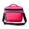 Insulated Lunch Bag Large Cooler Tote Bag for Men Women Cooler Bag Students Outdoor Picnic - Rose Red