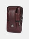 Durable Flap Magnetic Button Design Wearable Breathable Tasteless Belt Bag 6.5 Inch Phone Bag Wallet - Wine Red