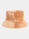 Men & Women Corduroy Tie-dye Double-sided All-match Outdoor Bucket Hat - #04
