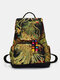 Women Ethnic Pattern Sequined Embroidered Peacock Backpack - Black