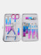7/10/12/15 Pcs Stainless Steel Nail Clippers Set Portable Travel Exfoliating Manicure Pedicure Grooming Set - 15 Pcs