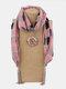Vintage Chiffon Tassel Women Scarf Necklace Geometric Pendant Flower Leaf Pattern Shawl Necklace - #12