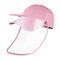 COLLROWN Transparent Detachable Sun Visor Anti-fog Cap - Pink