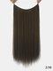 10 цветов длинные прямые Волосы удлинители химического волокна без следов ложные Волосы шт. - #03